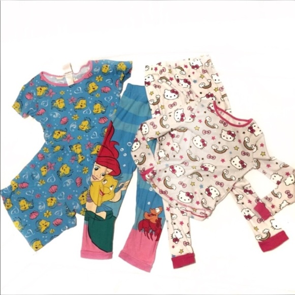 Disney/'s Frozen /& Hello Kitty Toddler Girl Pajama Set 3 Piece BNWT